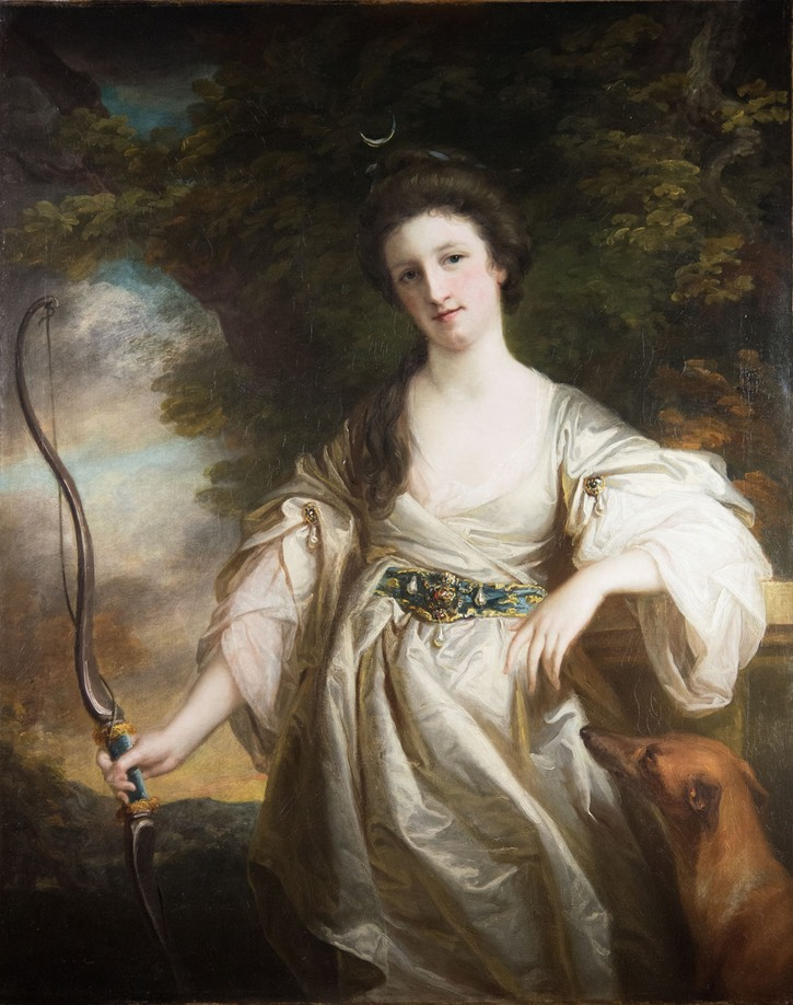 ca. 1770 Joyce Crowther, Lady Lake (1744-1834) as Diana by Francis Cotes (for sale by Strachan Fine Arts) From bada.org/object/joyce-crowther-lady-lake-1744-1834-diana-francis-cotes-ra-1726-1770-painted-c1767