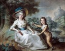 ca. 1785 Marie-Aurore de Saxe with her son Maurice Dupin de Francueil by ? (Musée de la vie romantique - Paris, France) Wm