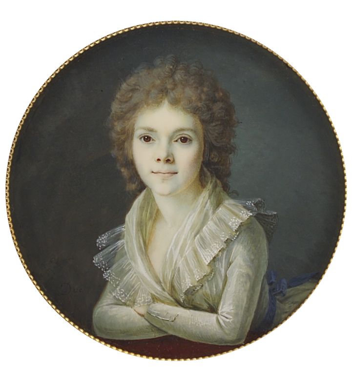 ca. 1794 Henriette Marie Laurence de Najac, née Leconte by Duc (Tansey Miniatures Foundation collection, Bomann-Museum - Celle, Niedersachsen, Germany) From tansey-miniatures.com-sammlung