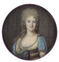 ca. 1794 Probably Pauline de Chauvigny, Herzogin d'Aumont by François Dumont (Tansey Miniatures Foundation collection, Bomann-Museum - Celle, Niedersachsen, Germany) From tansey-miniatures.com-sammlung m