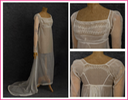 ca. 1804 Directoire period cotton gauze dress
