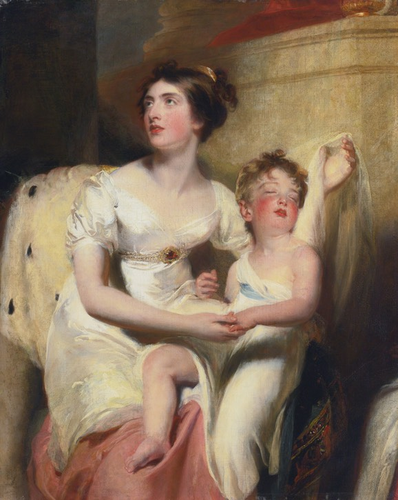 Anne, countess of Charlemont and her son James, by Thomas Lawrence