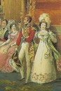 ca. 1823 Brighton Pavilion Duke & Duchess of Wellington