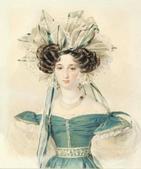 ca. 1823 Elizaveta Vorontsova, née Branicka by Pyotr Feodorovich Sokolov (location unknown to gogm)