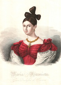 ca. 1835 Maria Antonietta Gran Duchessa di Toscana by Giacinto Maina Wm despot defox made lighter