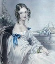 ca. 1837 Frances Elizabeth Cowper a few years  before she married Viscount Robert Jocelyn and became Viscountess Jocelyn. A portrait in crayon & chalk by John Hayter From photohistory-sussex.co.uk/HastingsJocelyn.htm X 1.5