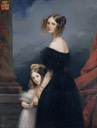 ca. 1840 Anne-Louise Alix de Montmorency, with her daughter by Claude-Marie Dubufe (location unknown to gogm)