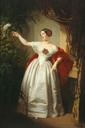 ca. 1840 (based on estimated age of subject) Alexandrine of Baden, Duchess of Saxe-Coburg und Gotha by ? (location unknown to gogm)
