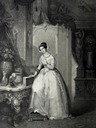 ca. 1850 Adelaide of Austria, Queen of Sardinia drawing by ?