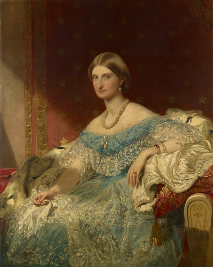 ca. 1855 Duchess of Aumale, Princess of France, Princess of Bourbon-Two Sicilies (1822–1869), by James Sant (location ?) From pinterest search
