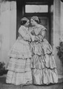 ca. 1860 Princess Mary Adelaide and Lady Katherine Grey Coke, née Egerton by Lord Otho Fitzgerald (Royal Collection) via pinterest.com:josephina2012:family-research: detint
