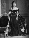 ca. 1865 Countess Castiglione wearing a dark star-themed dress looking upward From mashable.com:2016:05:03:virginia-oldoini:?utm cid=mash-com-fb-retronaut-link#FAcs9.komkq0 detint