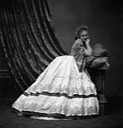 ca. 1867 Crinoline and Countess Castiglione leaning against pillows From mashable.com/2016/05/03/virginia-oldoini/?utm_cid=mash-com-fb-retronaut-link#FAcs9.komkq0 detint