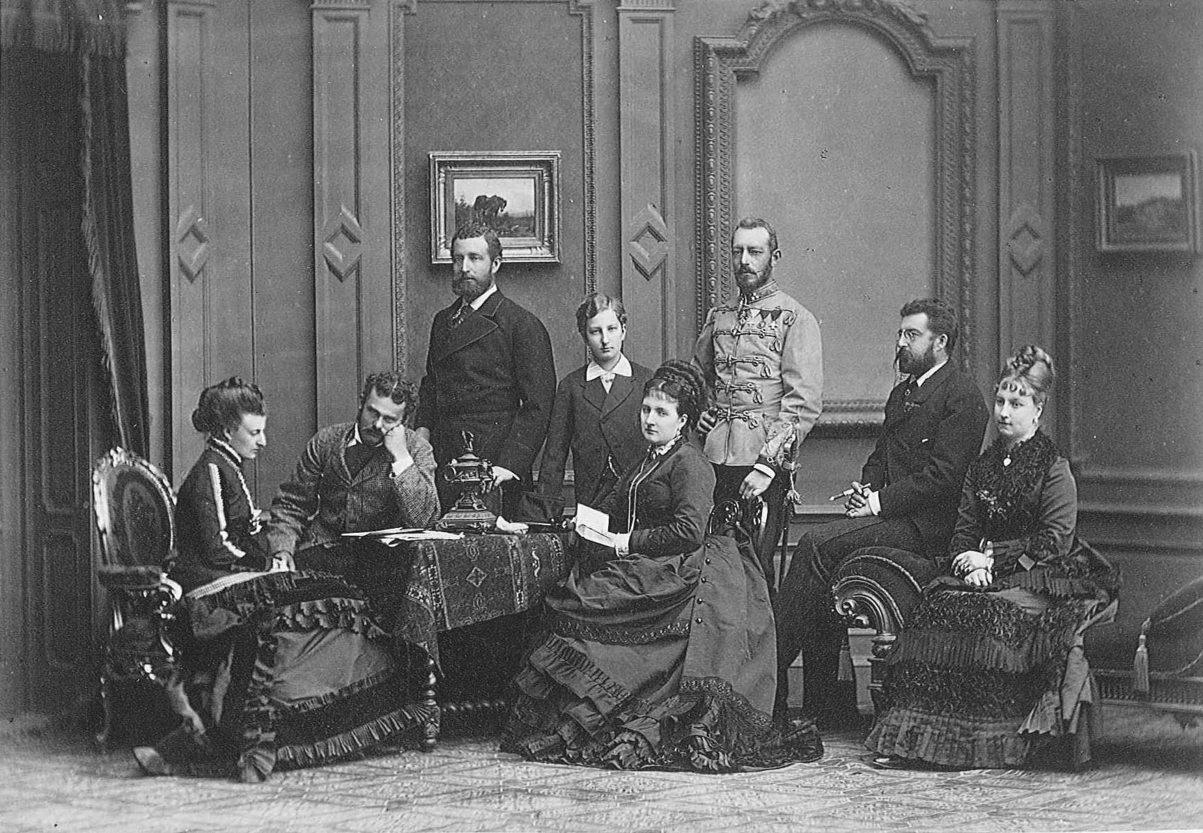 1875 Sachsen Coburg Gotha family by Viktor Angerer | Grand Ladies | gogm