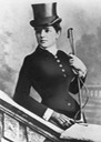 ca 1883-85 Jennie Churchill in riding habit