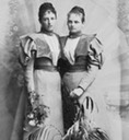 ca. 1897 (marriage date of Maria Ludwiga)  Princesses Adelgunde (1870–1958) and younger sister Maria Ludwiga (1872–1954) From pinterest.com:veracapriotti:royalty-of-bavaria: X 1.25