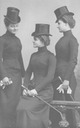 ca. 1900 Princess Hermine Reuss with her sisters Caroline and Emma
