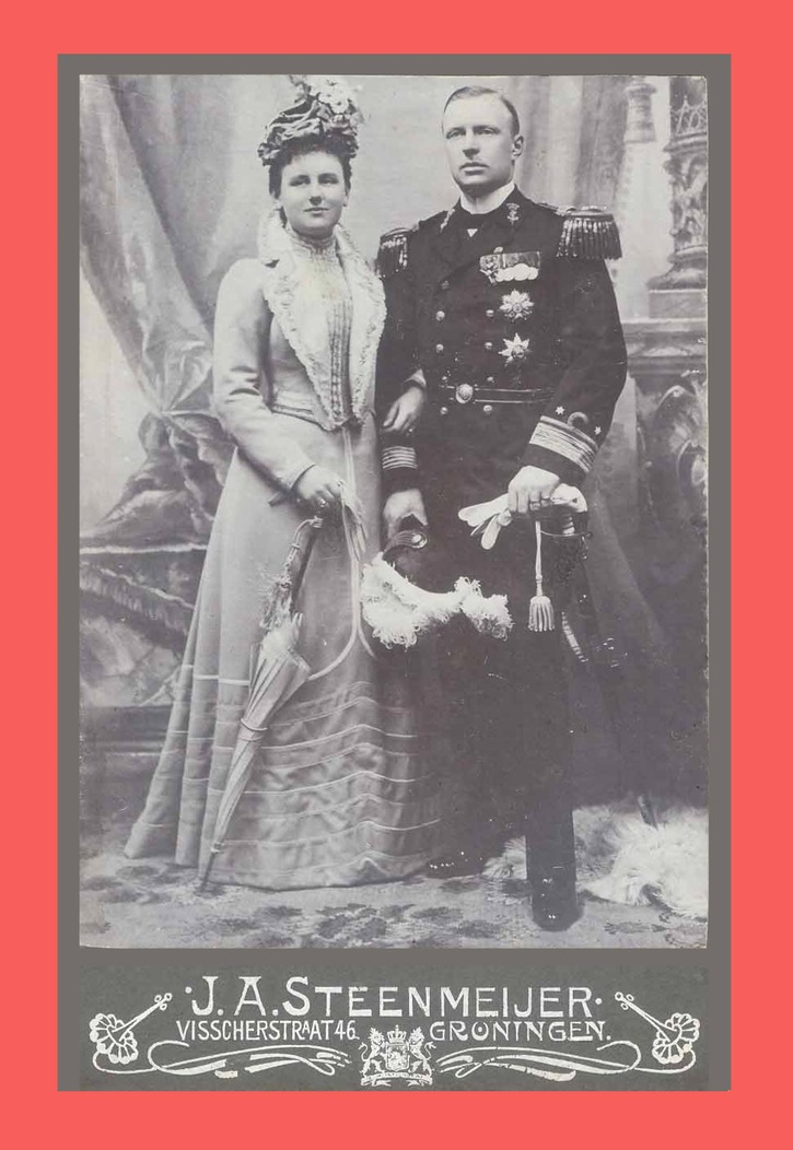 ca. 1901 Queen Wilhelmina and Hendrik of The Netherlands EB