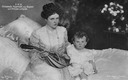 ca. 1906 (based on age of child) Prinzessin Marie Gabrielle von Bayern mit Sohn Prinz Luitpold