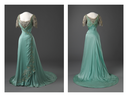 1909 Queen Maud eveneing dress front and back