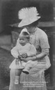 ca. 1911 (based on age of child) Grand Duchess-Mother Anastasia Mikhailovna of Mecklenburg-Schwerin with her grandson Friedrich