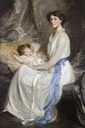 Lady Winifred Paget (1881-1965), Viscountess Ingestre, and Her Infant Son, John George Charles Henry Alton Alexander Chetwynd-Talbot (1914-1980), Later 21st Earl of Shrewsbury
