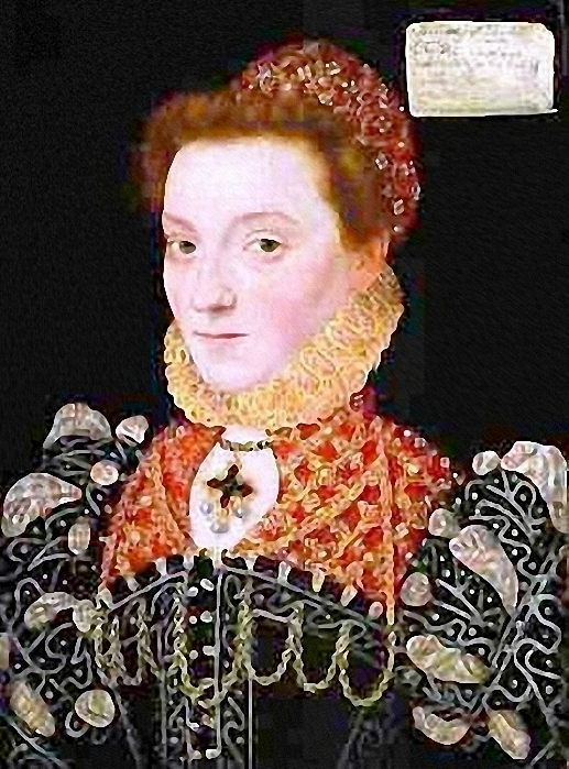 ca. 1575 Elizabeth FitzGerald, Countess of Lincoln by ? (location unknown to gogm) from tudorplace.com