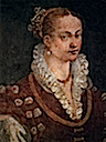 ca. 1580 Bianca Cappello, Second Wife of Francesco I de' Medici by Alessandro Allori (Galleria degli Uffizi - Firenze Italy)