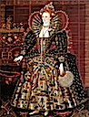 ca. 1599 Elizabeth I of England by Nicholas Hilliard studio (Hardwick Hall - Chesterfield, Derbyshire UK)