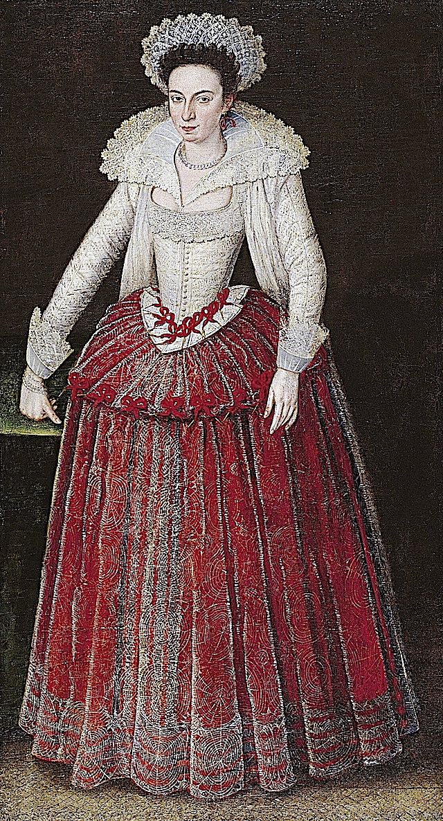 ca. 1605-1610 Lady Arabella Stuart by Marcus Gheeraerts the Younger (Norton Simon Museum - Pasadena, California USA)