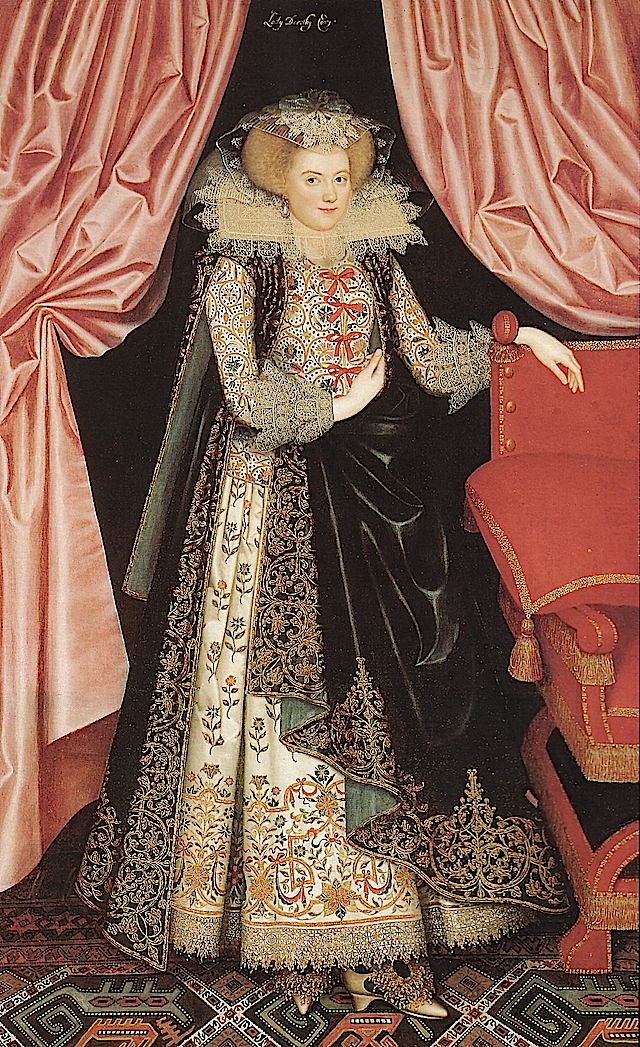 ca. 1614-1618 Lady Dorothy Carey (?), later Viscountess Rochford by William Larkin (Ranger's House - London UK) from liveinternet.ru:users:spbmaks:post156196552: