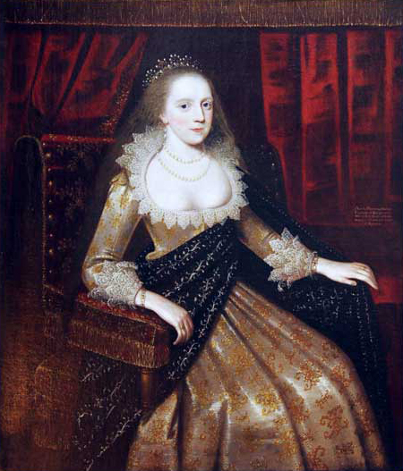 ca. 1619 Lady Frances Stanley by Paul van Somer (Ashridge Estate - Hertfordshire UK)