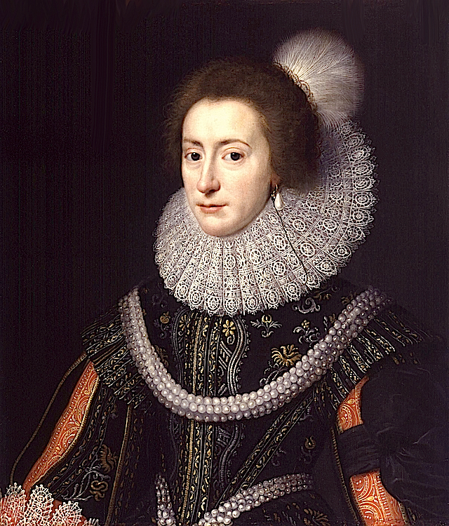 ca. 1623 Elizabeth, Queen of Bohemia by Michiel Jansz. van Miereveldt (National Portrait Gallery - London UK) Wm
