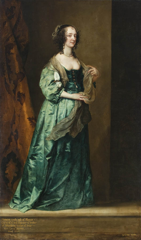 ca. 1630 Margaret Smith, wife of Thomas Carey by Sir Anthonis van Dyck (location unknown to gogm) from lisby1's photostream on flickr