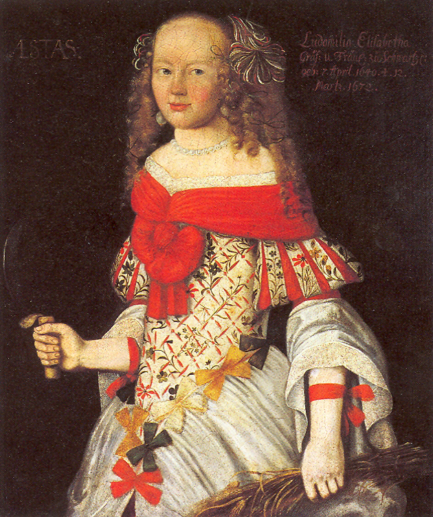ca. 1660 Ludmilla Elisabeth Schwarzburg by ? (location unknown to gogm) Wm