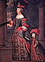 ca. 1666 Maria Theresa wife of Louis XIV, with her son, Dauphin Louis of France by Pierre Mignard (location unknown to gogm)