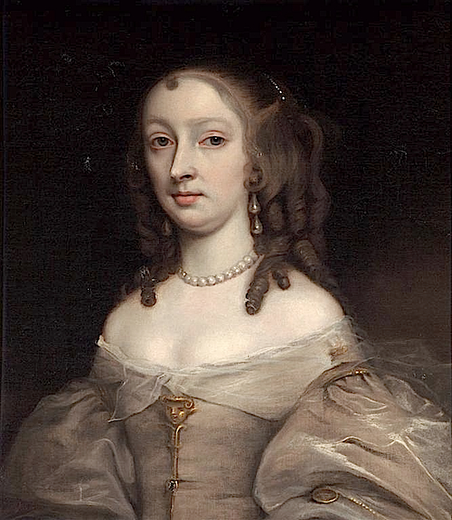 ca. 1670 Mary Bagot, later Countess of Dorset attributed to John Michael Wright (Holburne Museum - Bath UK) lightened