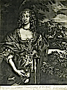 ca. 1684 (published) Frances Stuart Countess of Portland by Alexander Brown after Sir Anthonis Van Dyke from Sanders of Oxford