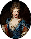 ca. 1690 Françoise Marie de Bourbon, wife of Philippe d'Orléans and daughter of Louis XIV of France by Pierre Gobert (auctioned by Heritage Auction Galleries)