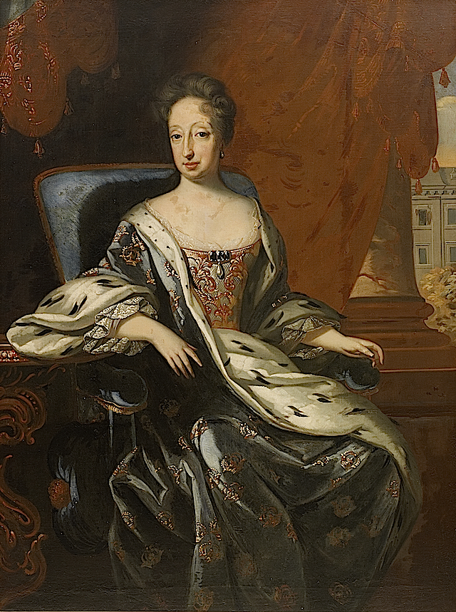 ca. 1706 Hedvig Eleonora of Holstein-Gottorp, Queen Consort of Sweden by David von Krafft (location unknown to gogm)