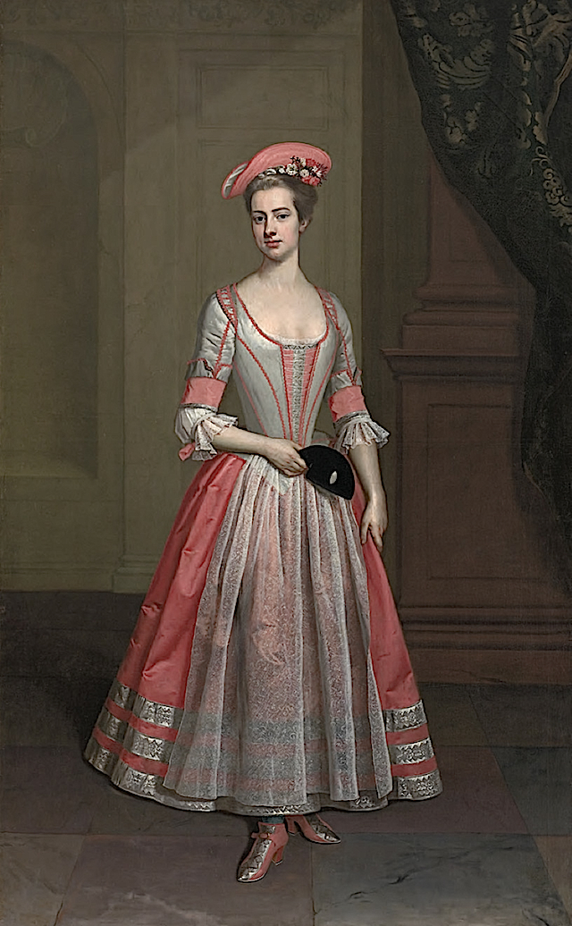 ca. 1720 Henrietta Hobart, The Hon. Mrs Howard, later Countess of Suffolk, in a masquerade dress attributed to Thomas Gibson (Bickling Hall) top