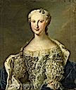 ca. 1745 Marie Thérèse Raphaëlle of Spain, Dauphine of France in by Daniel Klein the Younger (Versailles)