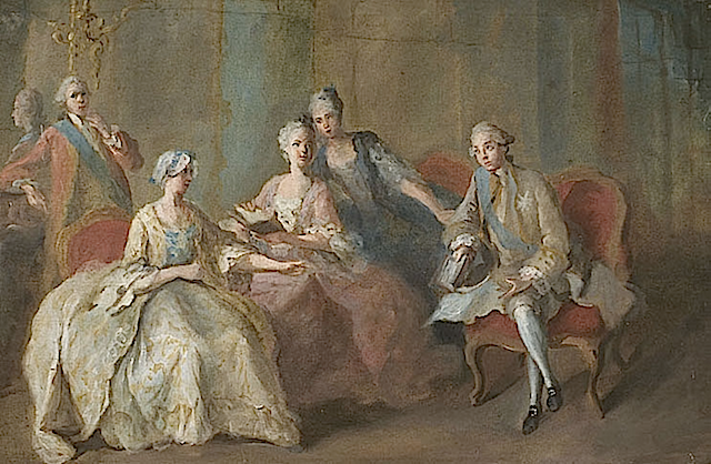 ca. 1767 Family of the Duke of Penthièvre by Jean-Baptiste Charpentier (Château de Sceaux - Sceaux, Hauts-de-Seine France) Wm X2