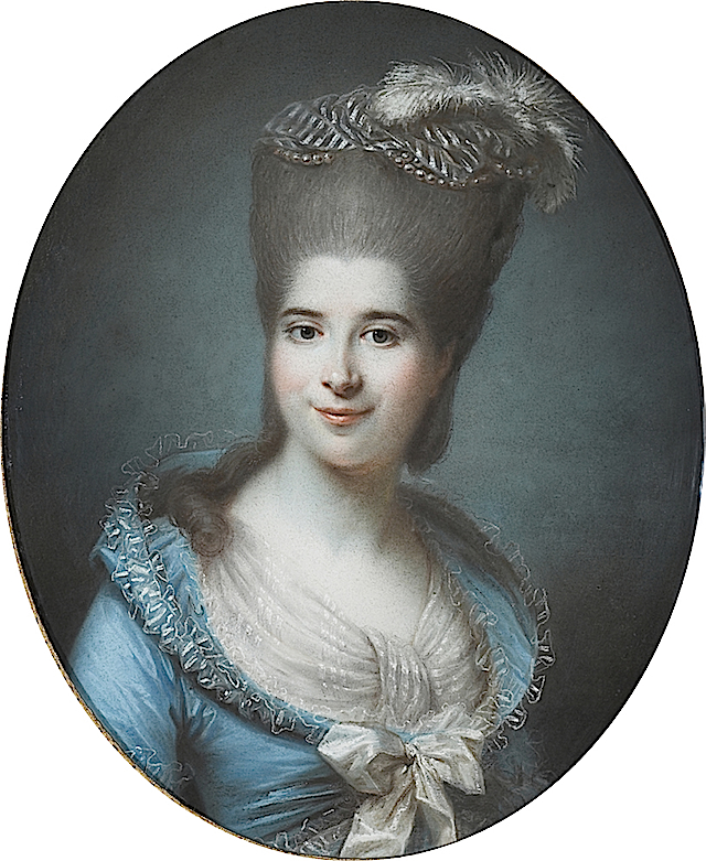ca. 1782 Madame Antoine Seguier, nee Vastal by Pierre Adolphe Hall after Alexandre Kucharski (private collection) www.pastellists.com