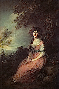 ca. 1785 Mrs Richard Brinsley Sheridan, nee Elizabeth Ann Linley by Thomas Gainsborough (National Gallery  - London UK) from georgianaduchessofdevonshire.blogspot.com:2009:03:tart-of-week-elizabeth-linley-sheridan