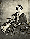ca. 1844-1845 Queen Victoria with Prince of Wales