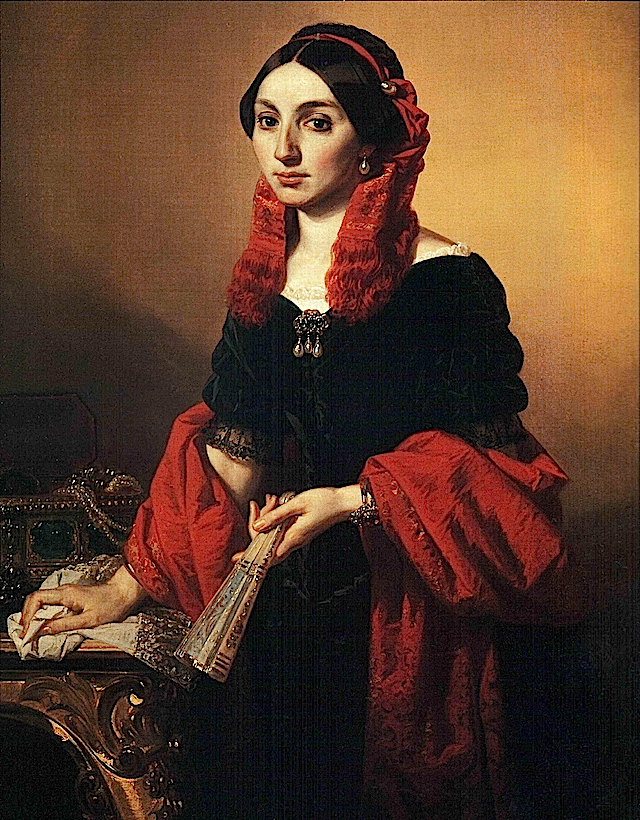 ca. 1850 Marie Therese d'Artois, de Berry, Duchesse de Parma by Domenico Scattola (location unknown to gogm) Wm