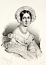 ca. 1850(?) Princess Melanie Metternich lithograph wife of Klemens Metternich by August Selb (Boris Wilnitsky)