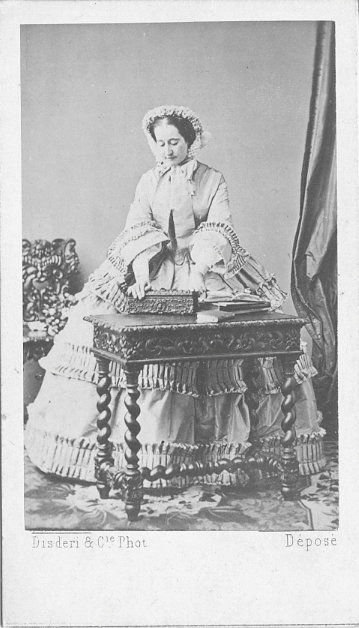 ca. 1858 Empress Eugenie by Disderi in the 1860s detinted