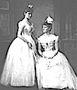 ca. 1889 Ella and Alexandra